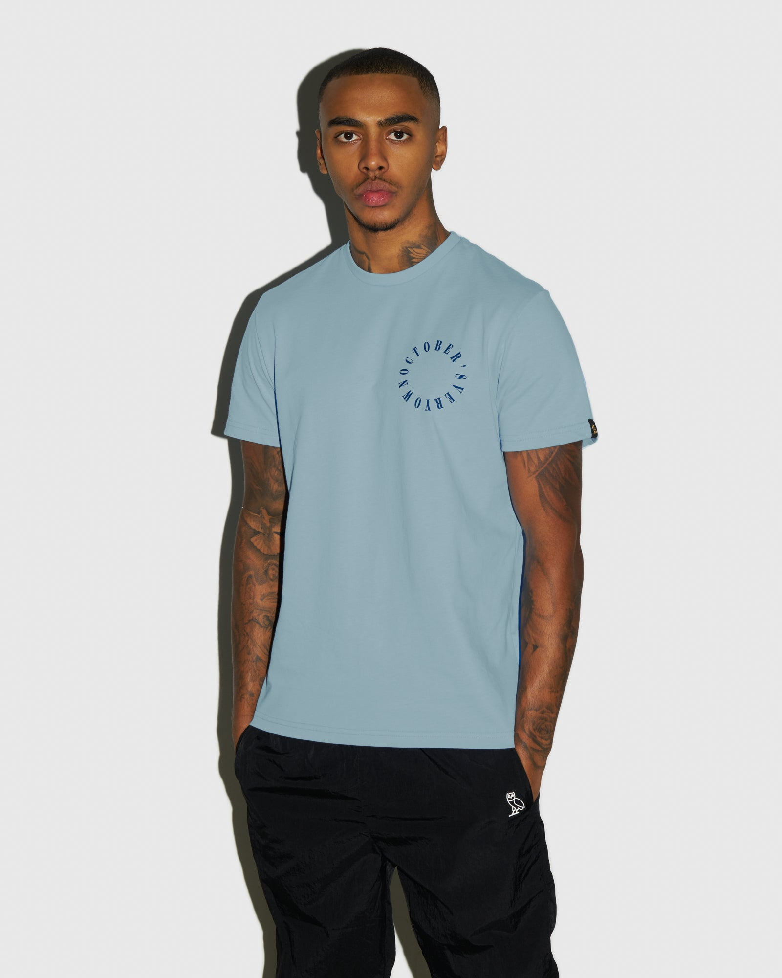 CIRCLE WORDMARK T-SHIRT - SKY BLUE IMAGE #2