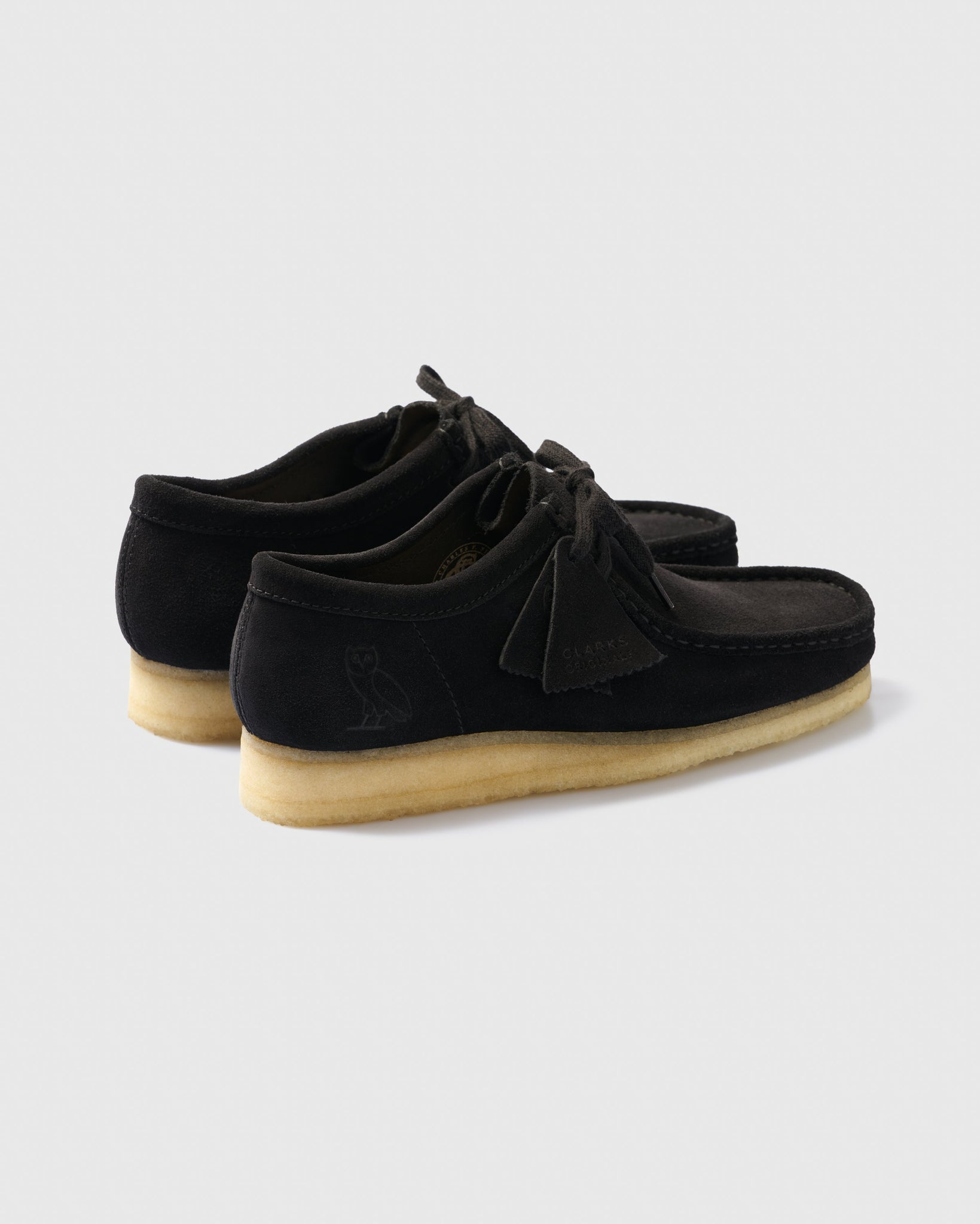 OVO x CLARKS ORIGINALS WALLABEE - BLACK IMAGE #2