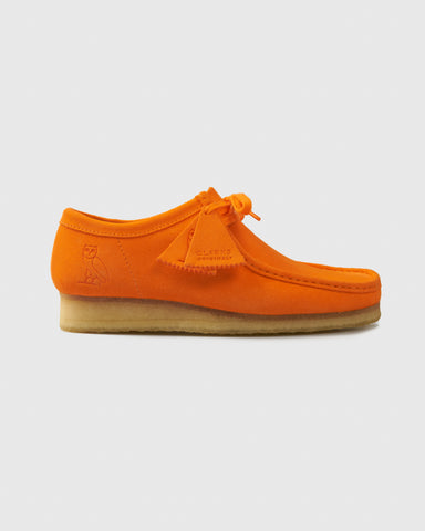 OVO x CLARKS ORIGINALS WALLABEE - ORANGE