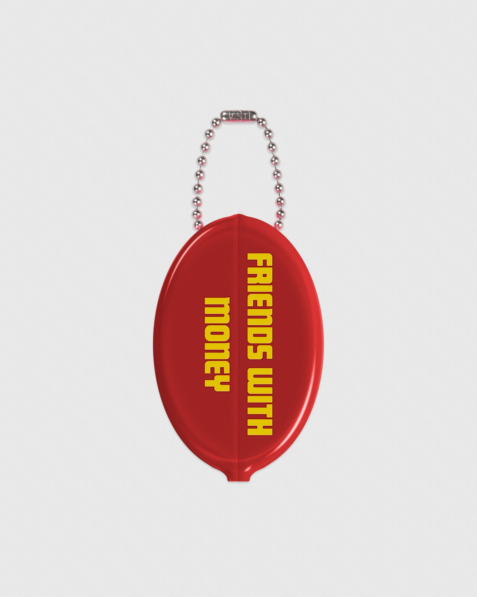 BLOCKLETTER WORDMARK COIN POUCH - OPAQUE RED IMAGE #2