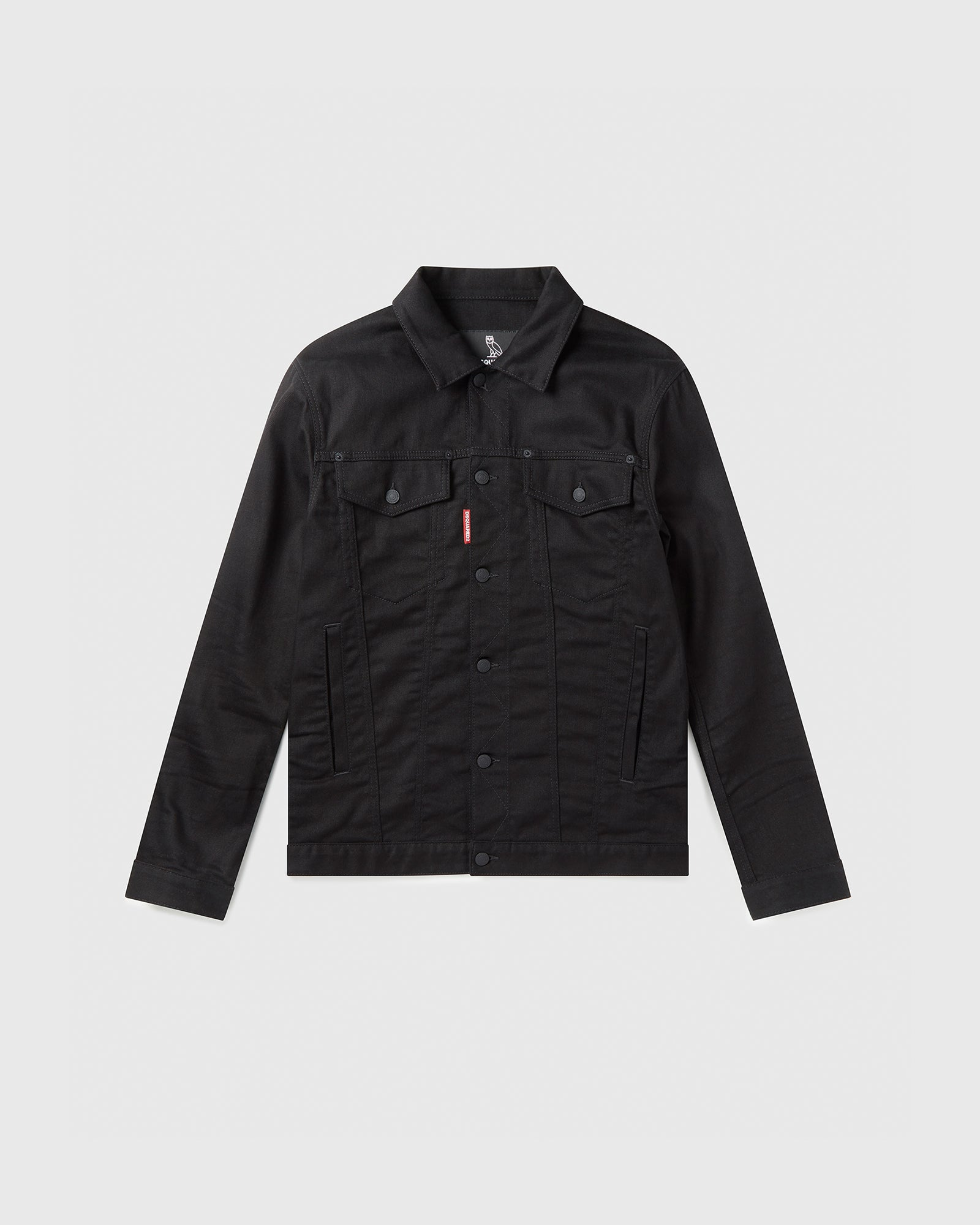 OVO X D2 DENIM JACKET - BLACK IMAGE #1