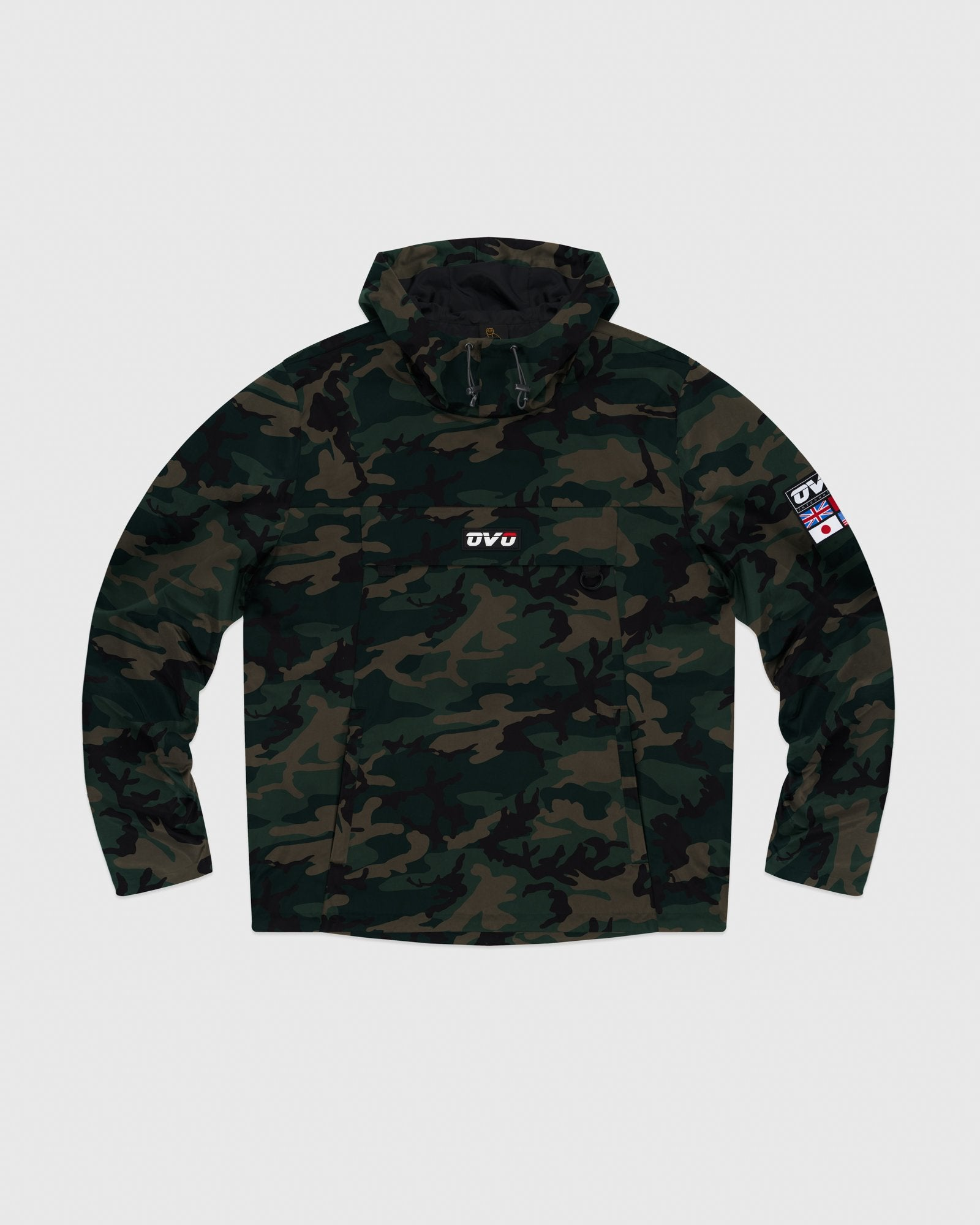 OVO INTERNATIONAL ANORAK HOODIE - CAMO GREEN IMAGE #1