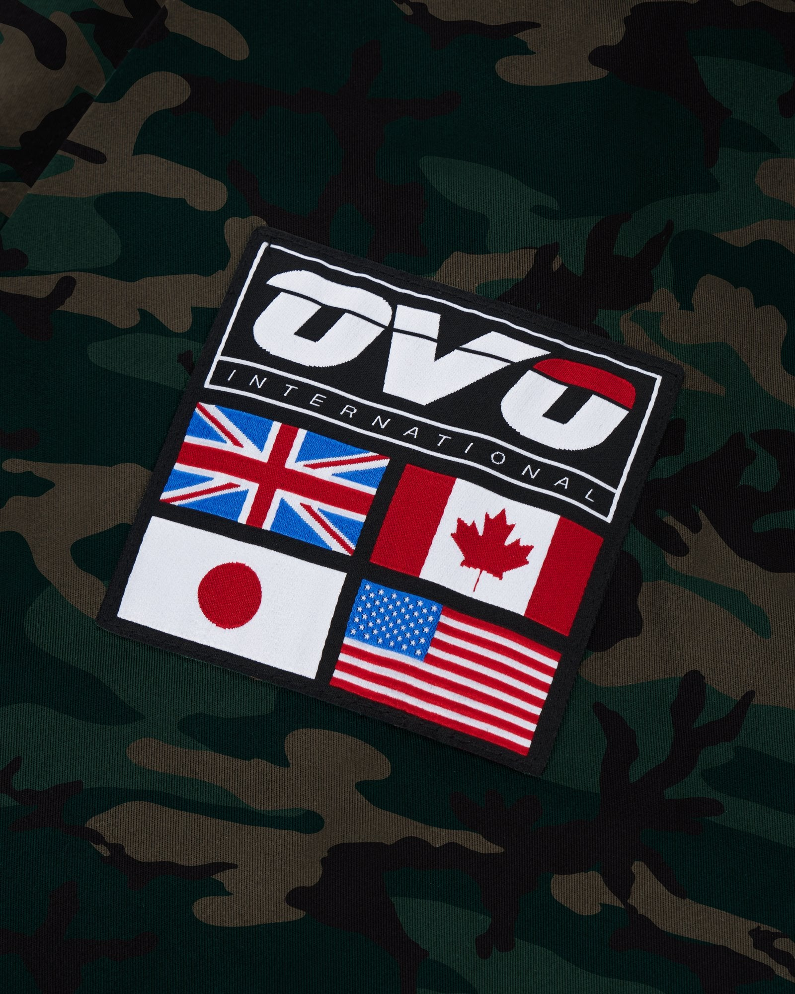 OVO INTERNATIONAL ANORAK HOODIE - CAMO GREEN IMAGE #4