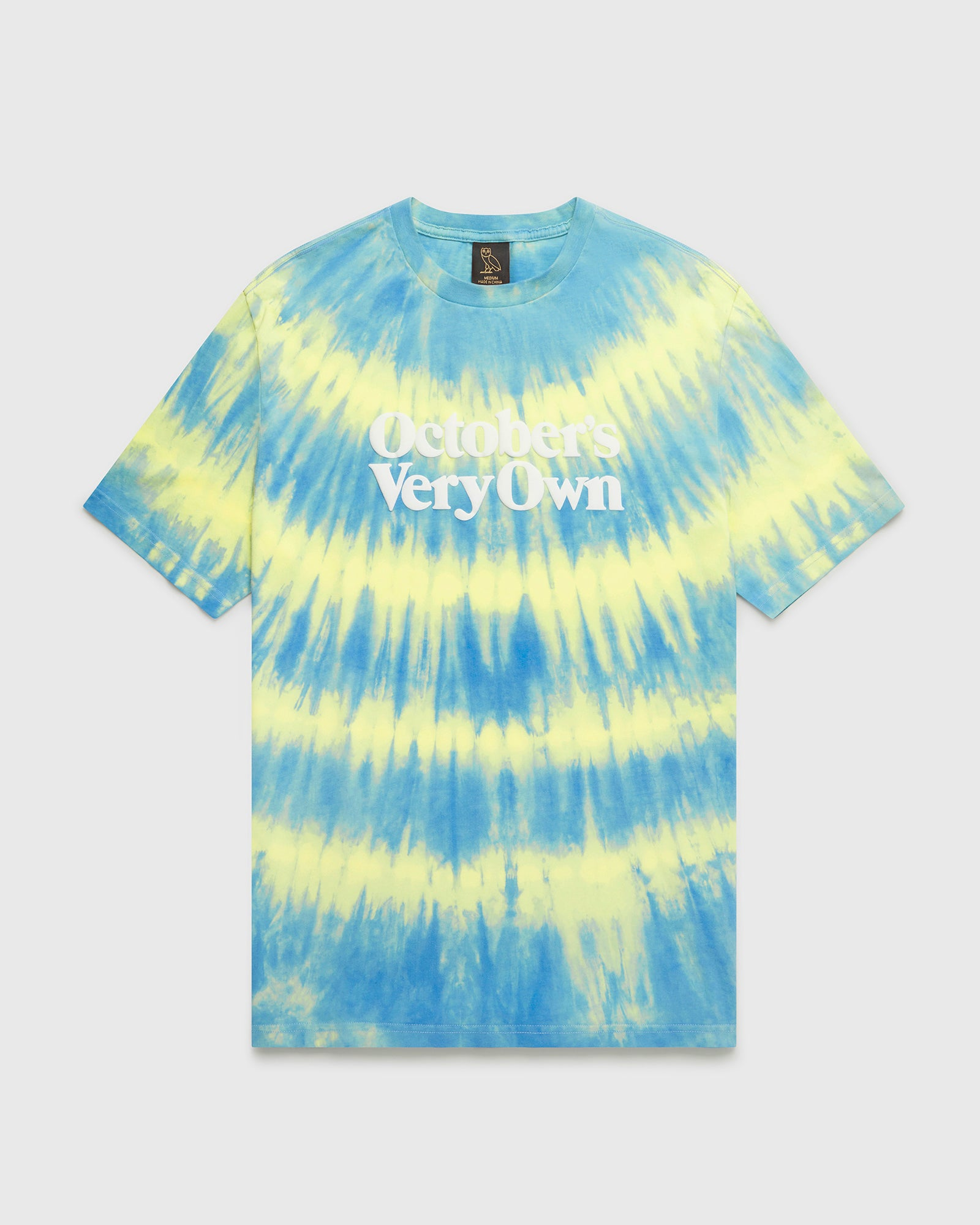 OVO MARBLE TIE DYE T-SHIRT - BLUE/YELLOW IMAGE #1