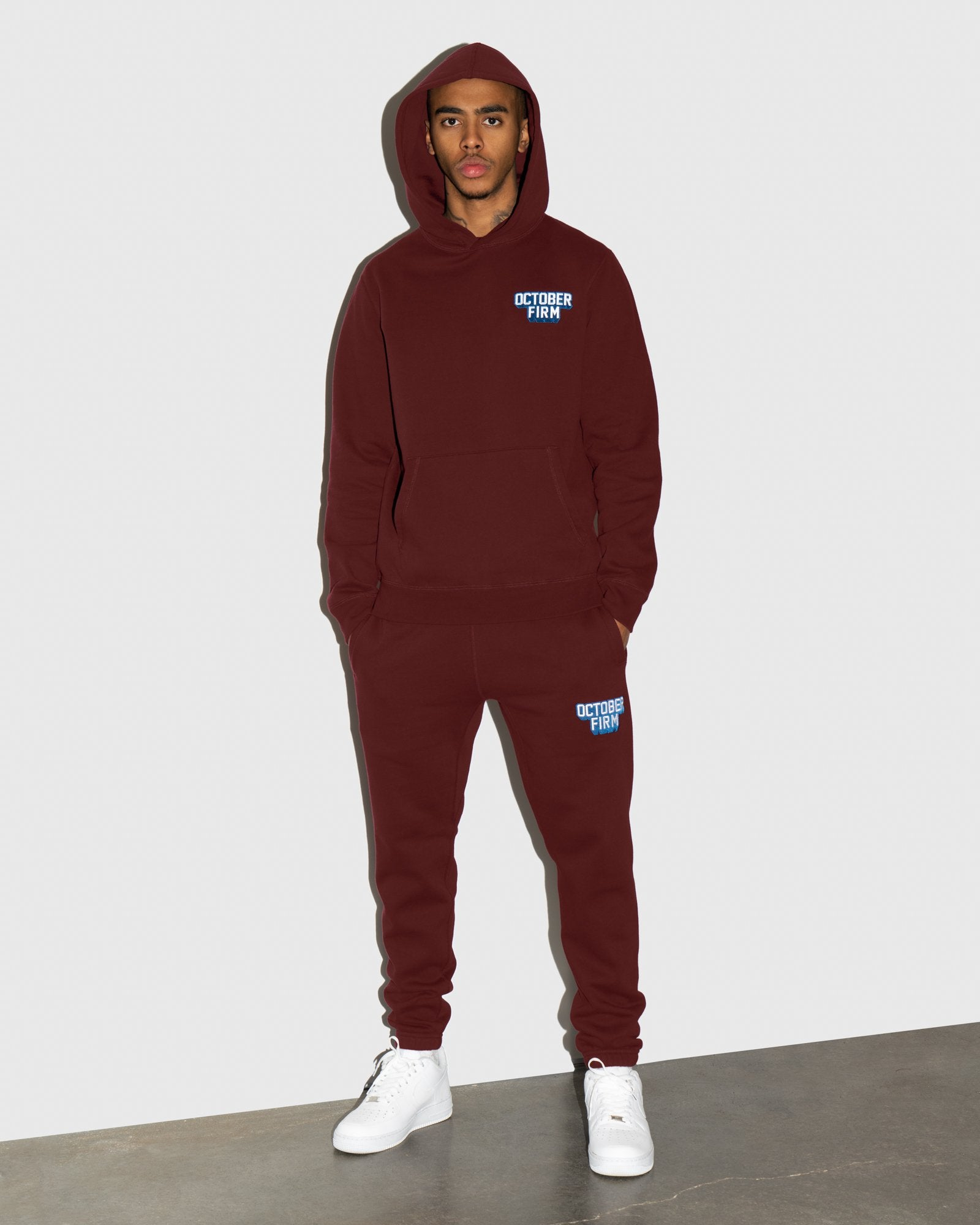 OCTOBER FIRM SHADOW SWEATPANT - BURGUNDY IMAGE #2