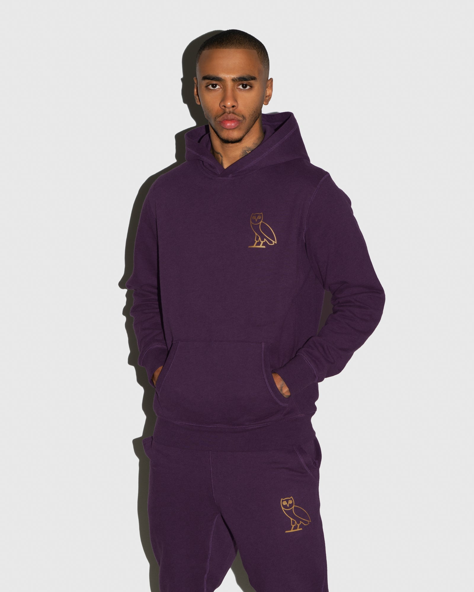 OWL HOODIE - HEATHER PURPLE IMAGE #2