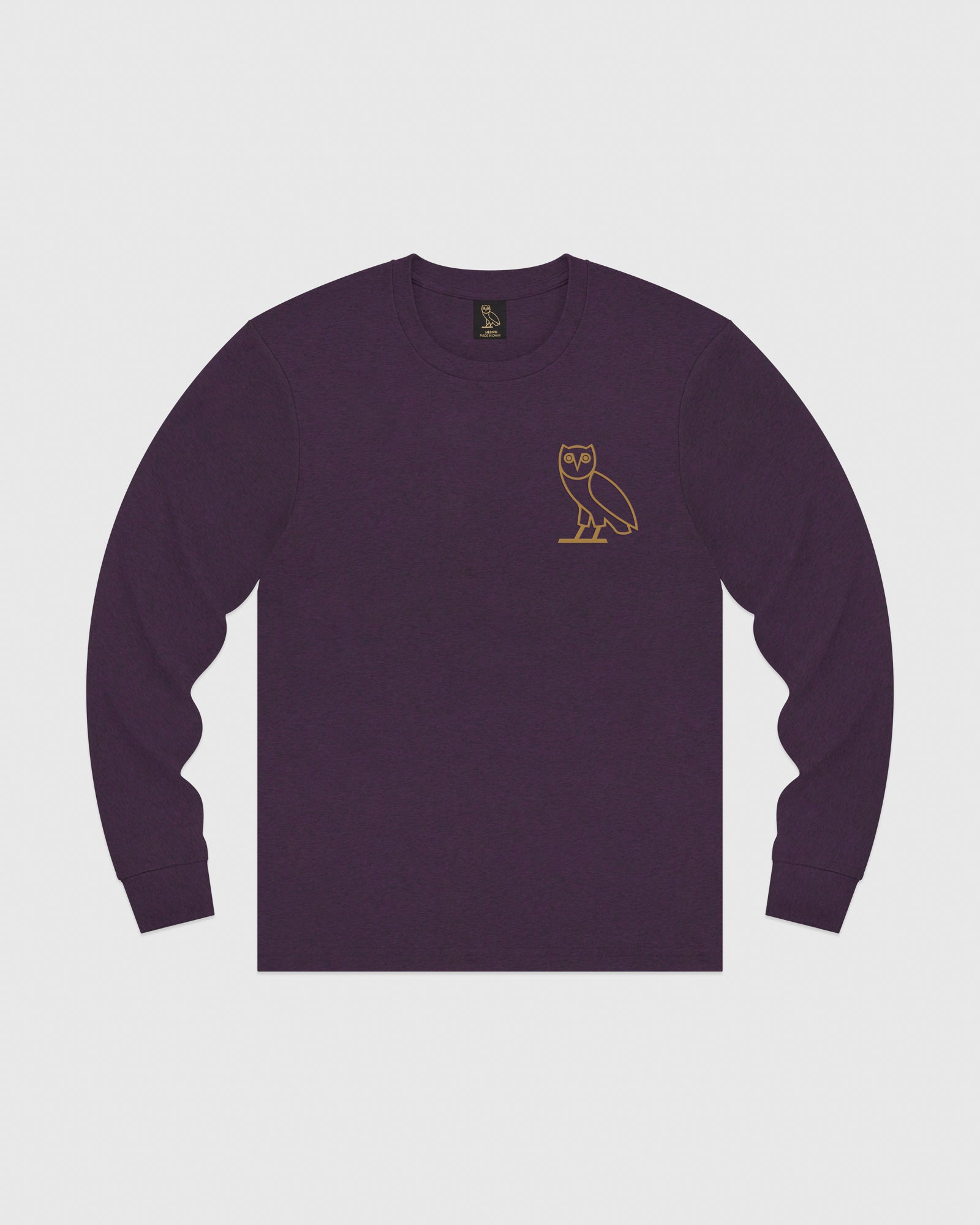 OWL LONGSLEEVE T-SHIRT - HEATHER PURPLE IMAGE #1