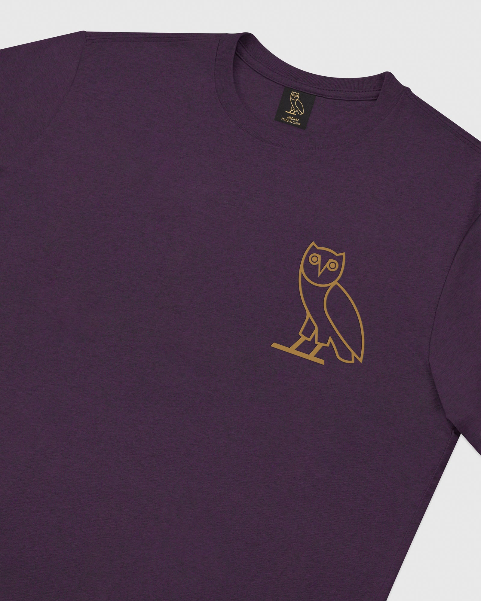 OWL LONGSLEEVE T-SHIRT - HEATHER PURPLE IMAGE #3