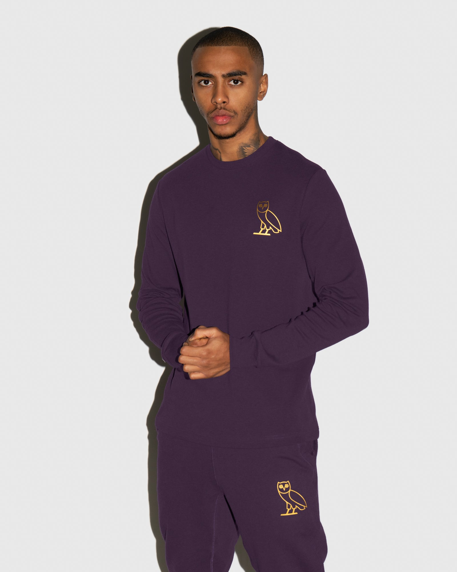 OWL LONGSLEEVE T-SHIRT - HEATHER PURPLE IMAGE #2