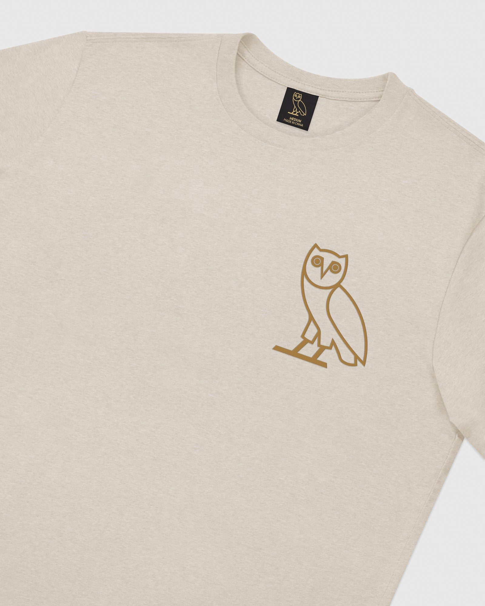 OWL T-SHIRT - HEATHER OATMEAL IMAGE #3