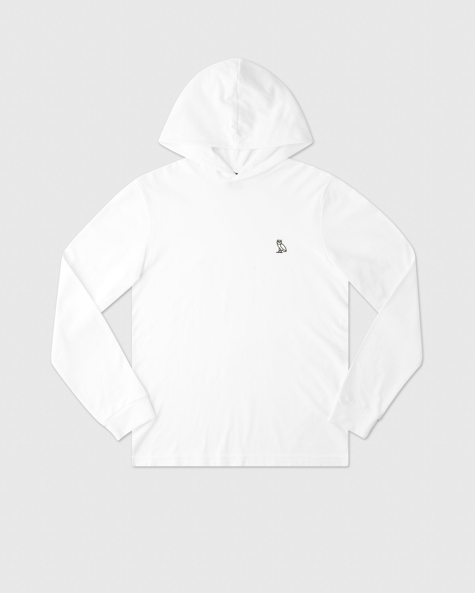 PIQUE HOODIE - WHITE IMAGE #1