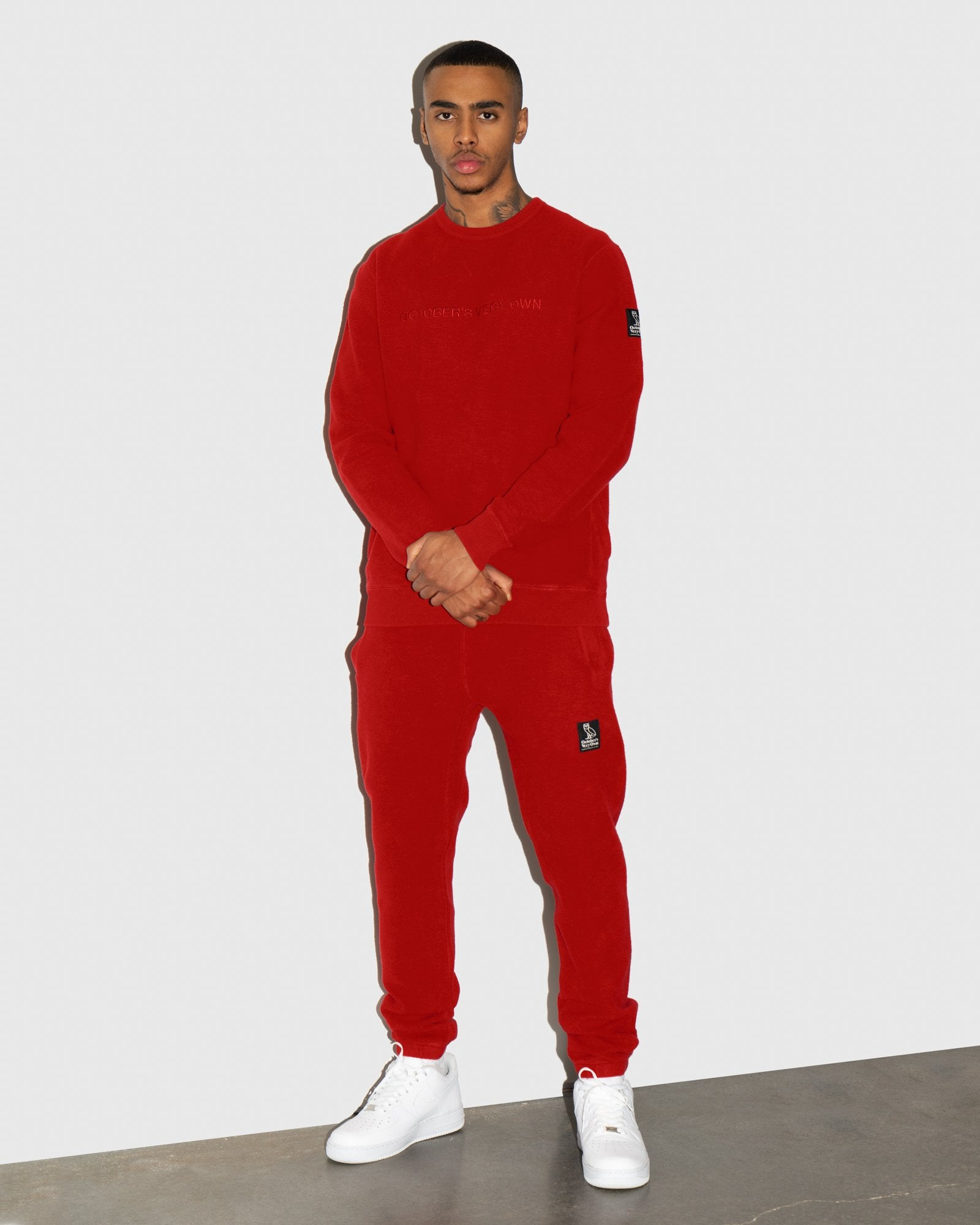 REVERSE FLEECE SWEATPANT - RED IMAGE #2