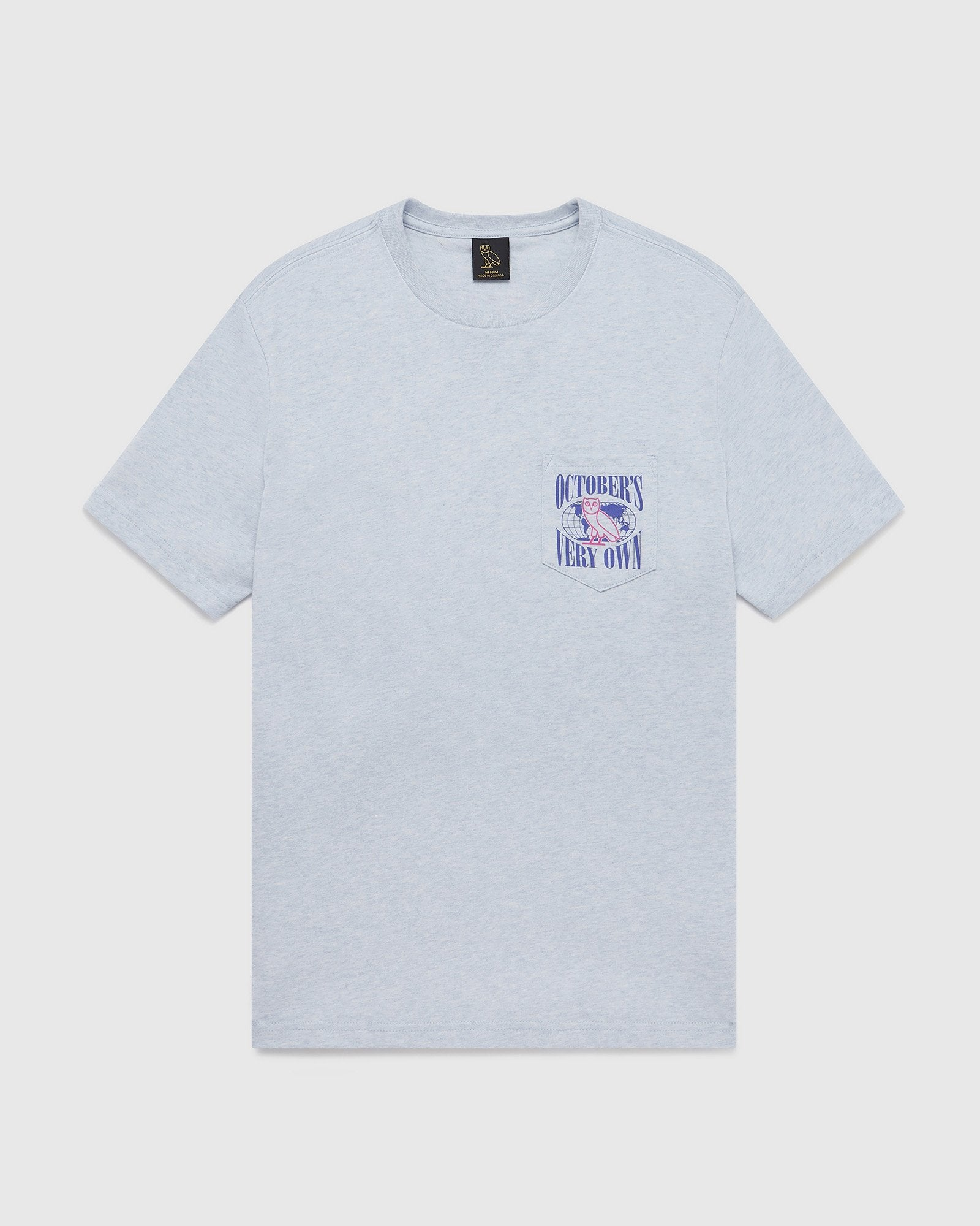 WORLD TOUR POCKET T-SHIRT - HEATHER CADET BLUE IMAGE #2