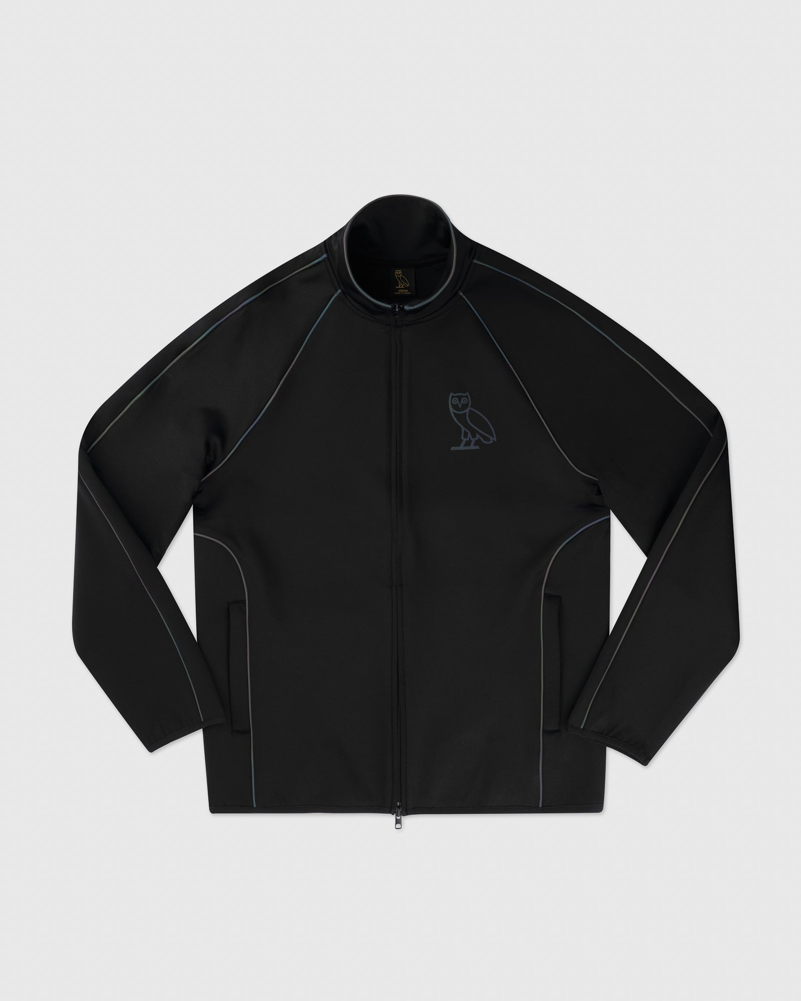 REFLECTIVE PIPING JACKET - BLACK IMAGE #1