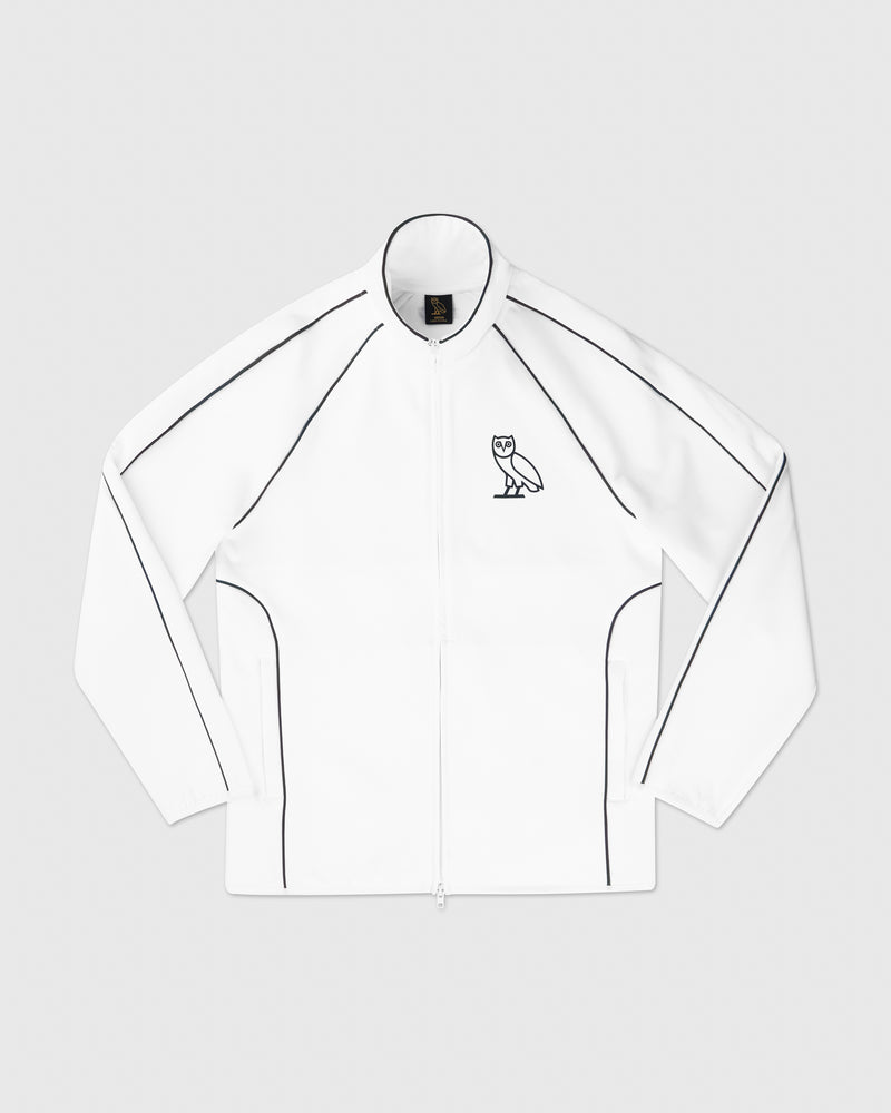 REFLECTIVE PIPING JACKET - WHITE