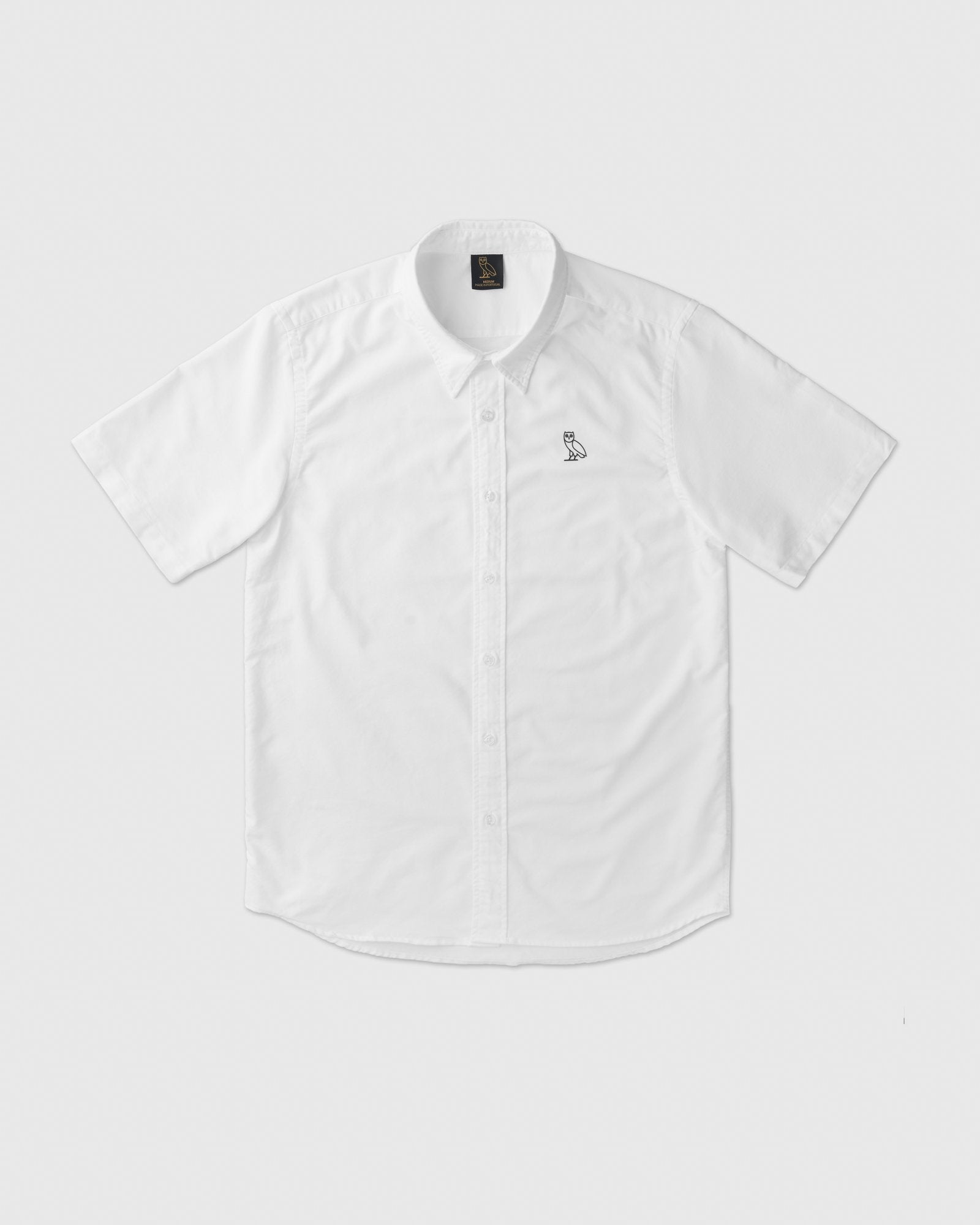 SHORT SLEEVE OXFORD SHIRT - WHITE IMAGE #1