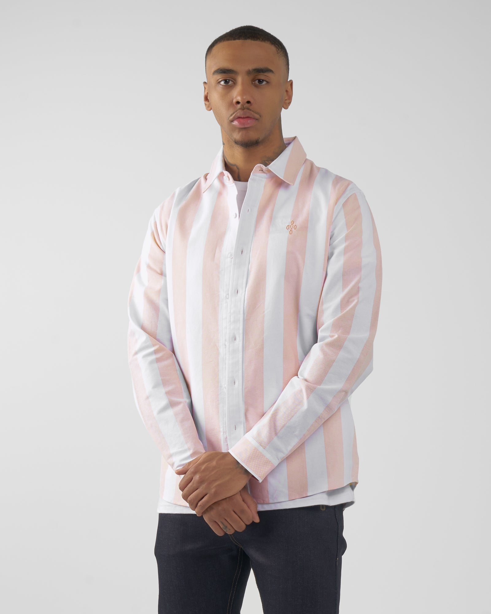 STRIPED OXFORD SHIRT - PALE PINK IMAGE #3