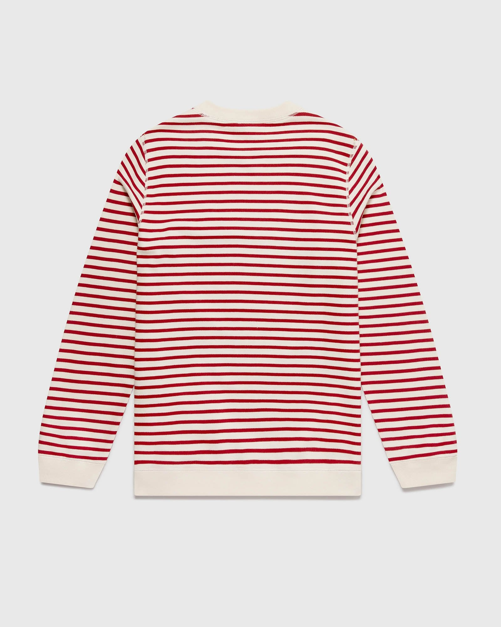 NAUTICAL STRIPE CREWNECK - RED/CREAM IMAGE #3