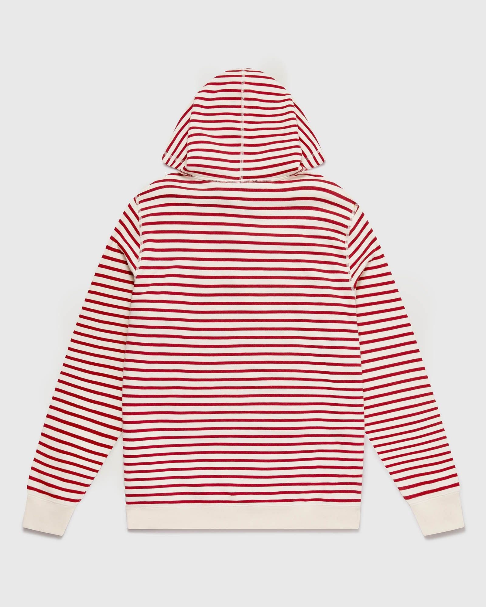 NAUTICAL STRIPE HOODIE - RED/CREAM IMAGE #3