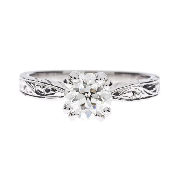 14K Solitaire Diamond Ring