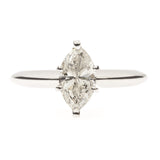 14K Marquise Diamond Solitaire
