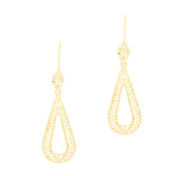 14k Dangling Filigree Earrings
