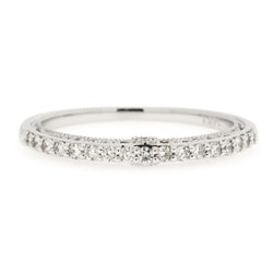 14K Filigree Diamond Band