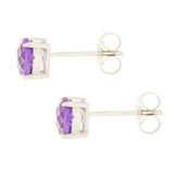 14K Amethyst Stud Earrings