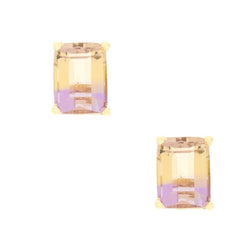 14K Ametrine Stud Earrings