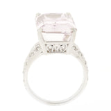 14K White Gold Kunzite Ring