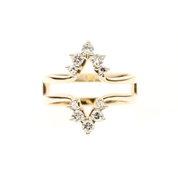 14K Diamond Ring Guard