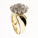14K Cluster Diamond Ring