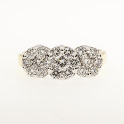 14K Clustered Diamond Ring