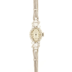 14K Bulova Diamond Wristwatch