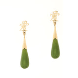 14K Dangle Jade Earrings