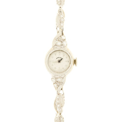 Ladies Vintage 14k White Gold Hamilton Wristwatch