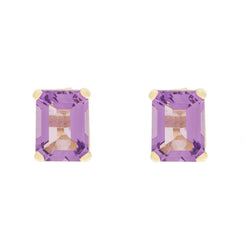 14K Amethyst Earrings