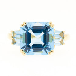 14K Blue Topaz Ring