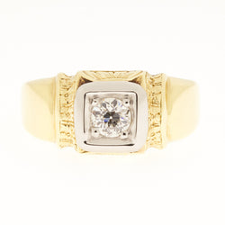 14K Art Deco 1920's Diamond Ring