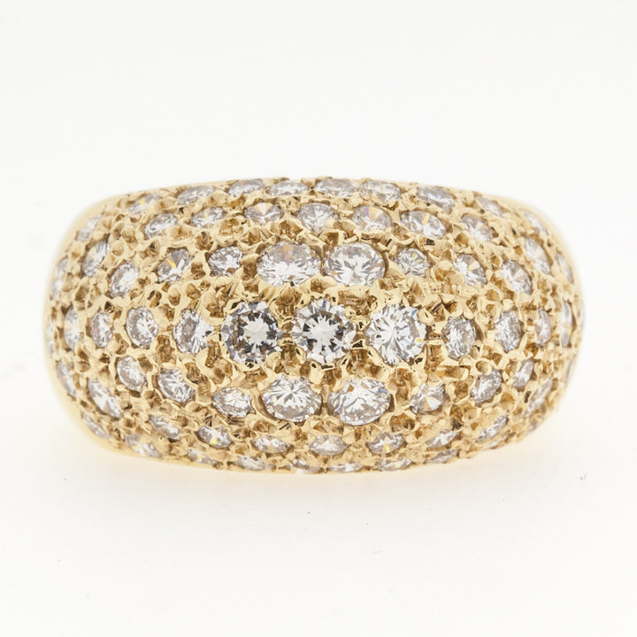 14K Pave Diamond Ring