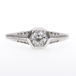 14K Filigree 1920's Diamond Ring