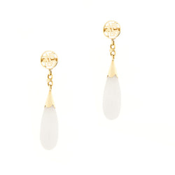 14k Lavender Jade Dangle Earrings