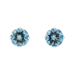 14K London Blue Topaz Stud Earrings