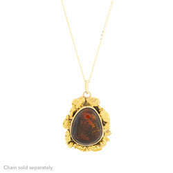 14K Fire Agate Natural Gold Nuggets