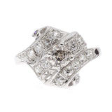 1920's 14K Diamond Fashion Ring
