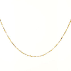 14K Two Tone Long Link Chain