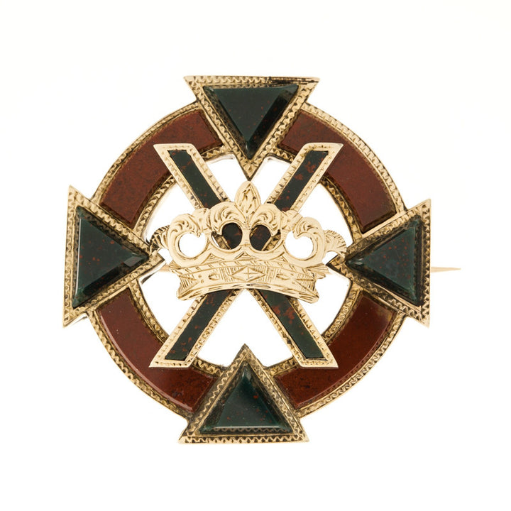 12K 1870's Irish Sash Pin