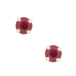 14K Filigree Ruby Earrings