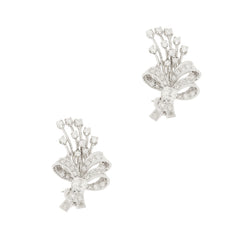 14K Art Deco Diamond Earrings