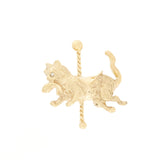 14K Diamond Cat Brooch